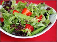 Strawberry, Sugar Snap Pea and Fresh Herb Salad