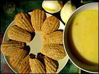 Lemon Rosemary Madeleines with Lemon Curd