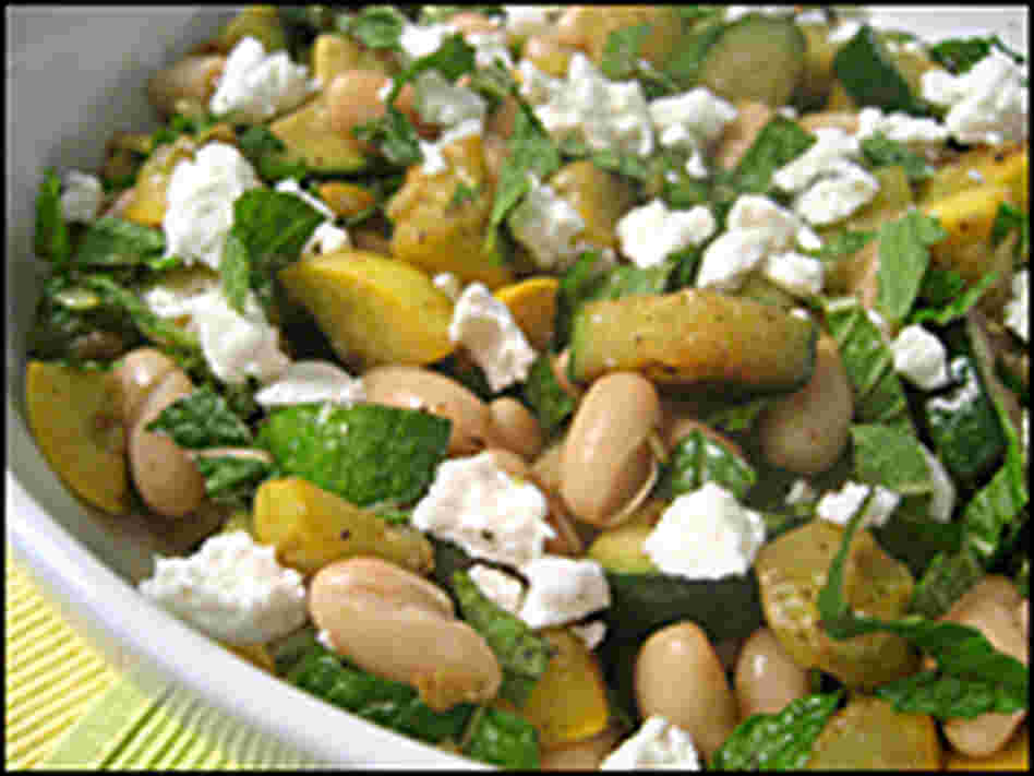 Warm Squash Salad With Mint