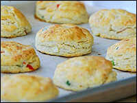 Corn, Scallion and Cheddar Biscuits with Cilantro Butter