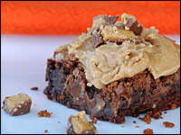Reese's Peanut Butter Cup Brownies With Peanut Butter Frosting