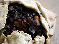 Mushroom And Spinach Galette