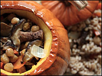 Baked Pumpkin With Root Vegetable Stew