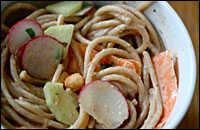 Lime-Peanut Noodles With Cilantro