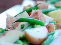 String Bean And Potato Salad With Prosciutto