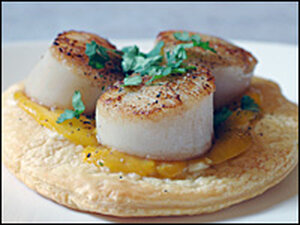 Scallop Mango Tartlets
