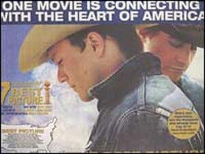 Ad for 'Brokeback Mountain'