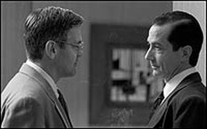 George Clooney and David Straitharn in 'Good Night, and Good Luck'