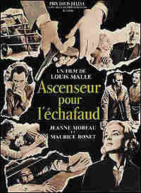 French poster for Louis Malle's 'Elevator to the Gallows'