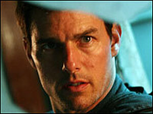 Tom Cruise faces the camera