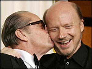 Jack Nicholson smooches director Paul Haggis