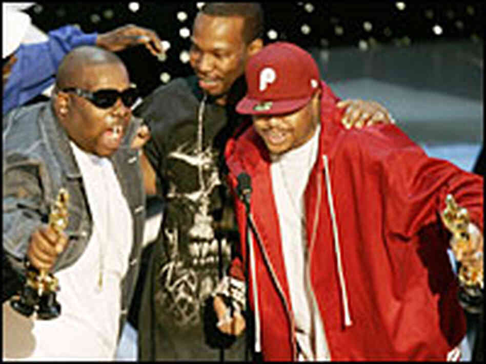 Members of Three 6 Mafia wake up the audience
