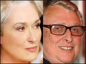 Composite photo shows Meryl Streep, Mike Nichols