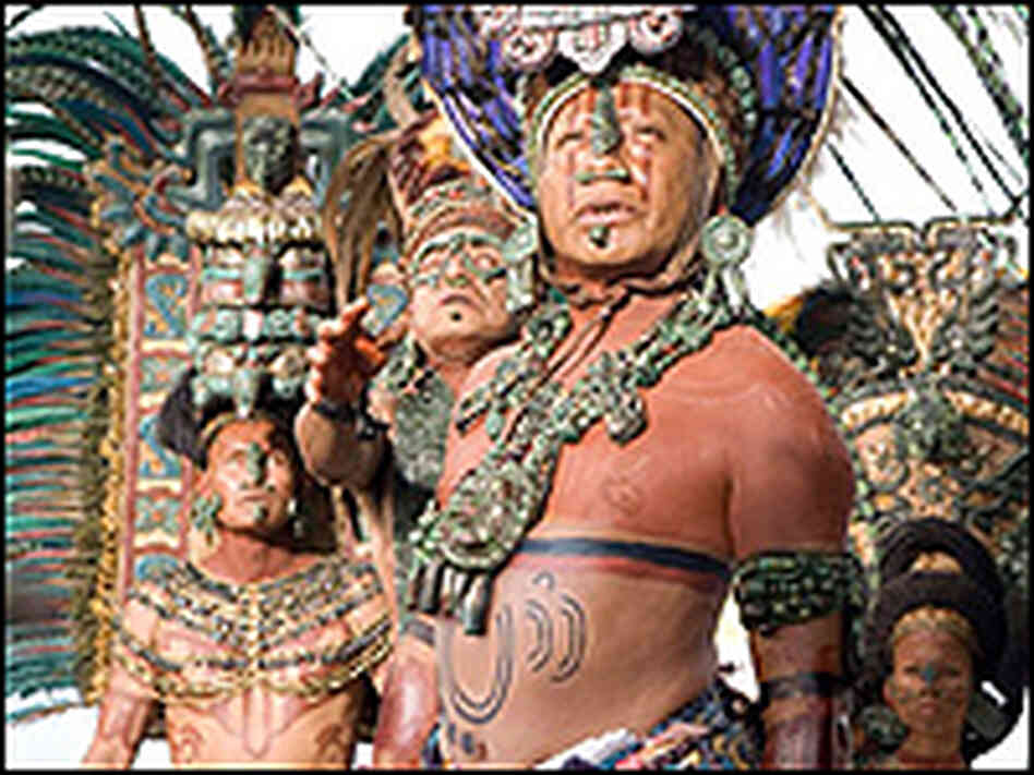Mayan priests in a scene from Apocalypto