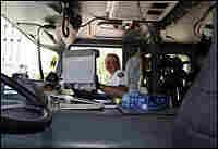 Oklahoma City Battalion Chief Glenn Clark accesses the city's Wi-Fi network