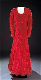 Laura Bush's 2001 inaugural gown.