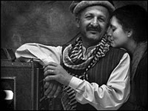 Photojournalist Reza Deghati with his wife, Rachel.