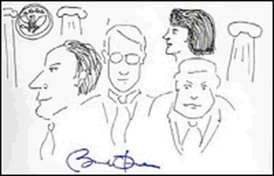 President Obama doodled this sketch for a charity in 2007.