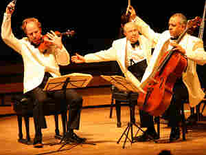 The Beaux Arts Trio: Antonio Meneses, Menahem Pressler and Daniel Hope.