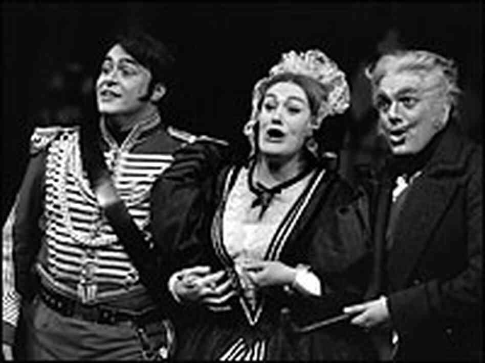 Pavarotti, with Joan Sutherland and Spiro Malas