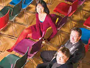 Gloria Cheng, Esa-Pekka Salonen and Steven Stucky