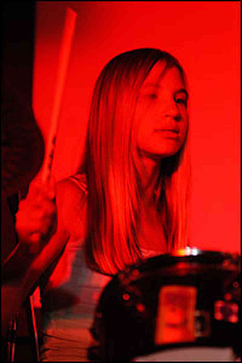 Drummer (and younger sister) Chloe of Smoosh.