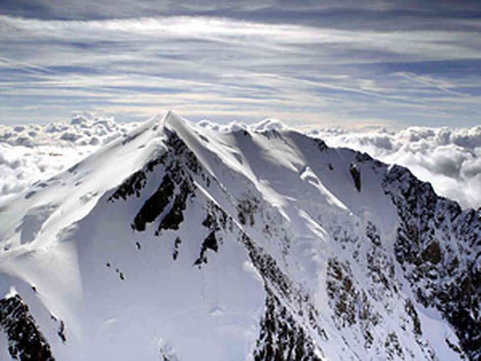 The Italian side of Mont Blanc, the highest European peak.