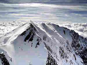The Italian side of Mont Blanc, the highest European peak.