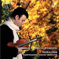 Cover for Tchaikovsky, Glazunov: Violin Concertos