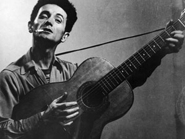Folk legend Woody Guthrie. (Getty Images)