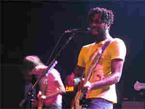 Kele Okereke leads Bloc Party through its set Thursday night.