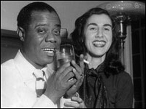 Lorraine Gordon with Louis Armstrong.