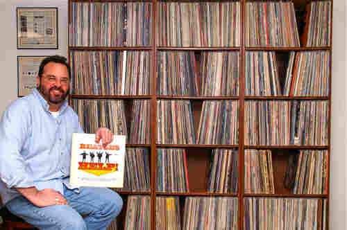 a photo of one listener's vinyl record collection