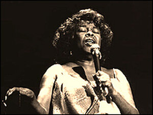 Sarah Vaughan's iconic voice slides and slithers, smoothing over her material's sharp angles.