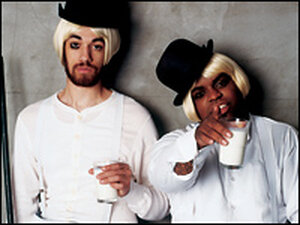 Gnarls Barkley features DJ/producer Danger Mouse (left) and Goodie Mob member Cee-Lo.