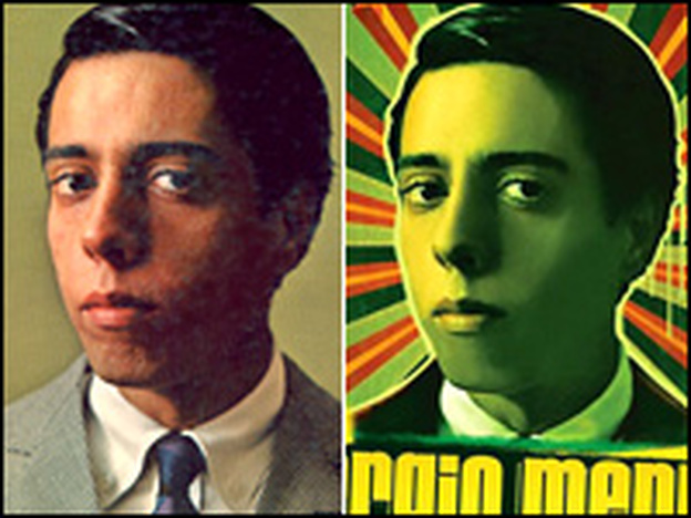 Sergio Mendes on the cover of <em>The Swinger from Rio</em>, left, and his new <em>Timeless</em>.
