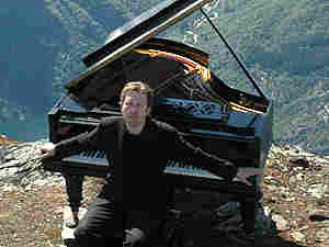 Pianist Leif Ove Andnes in the Hardanger range, in Norway