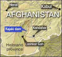 Map of Kajaki dam