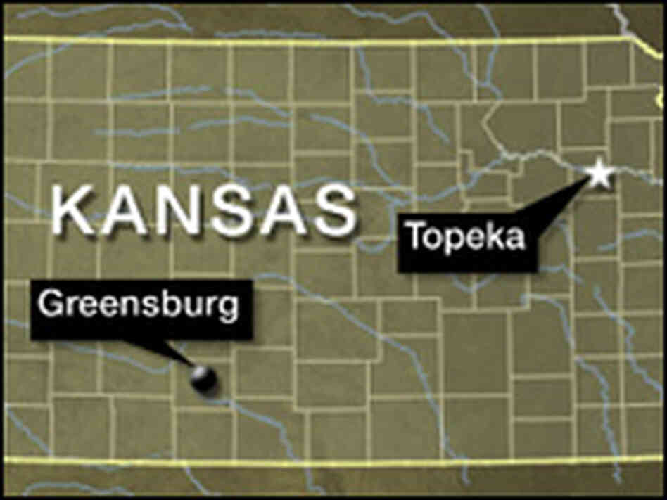 Greensburg, Kan., map