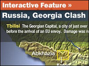 Map: Russia, Georgia Clash