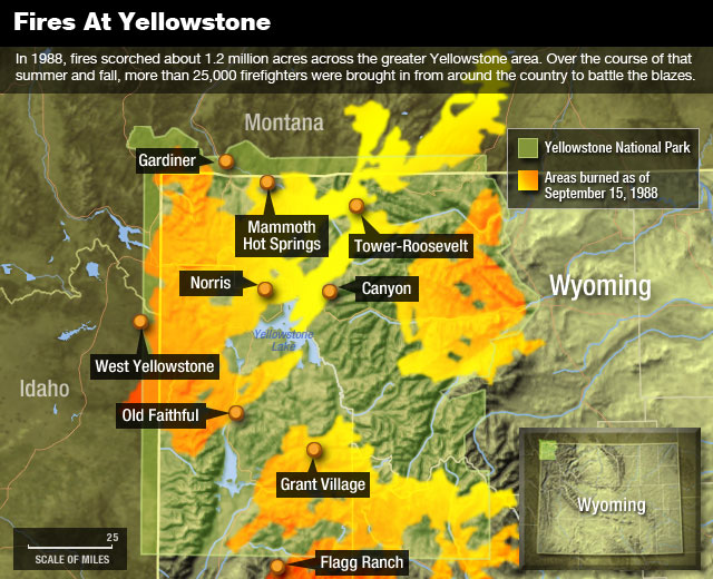 Remembering The 1988 Yellowstone Fires | NCPR News on sequoia fire map, valley fire map, lake fire map, wyoming fire map, beaver fire map, dodge fire map, idaho fire map, earth fire map, monticello fire map, olympic national park fire map, cascade fire map, jackson fire map, yosemite fire map, roosevelt fire map, lincoln fire map, stouts fire map, butte fire map, 1910 fire map, orion fire map, washington fire map,