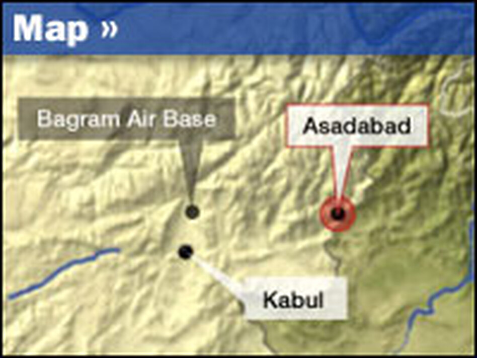The recovery flight took place in the rough terrain near Asadabad, in northern Afghanistan.