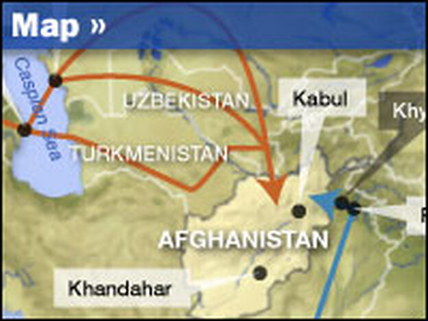 The U.S. military is planning new supply lines that will enter Afghanistan from the north.