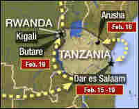 Map of Africa Tour