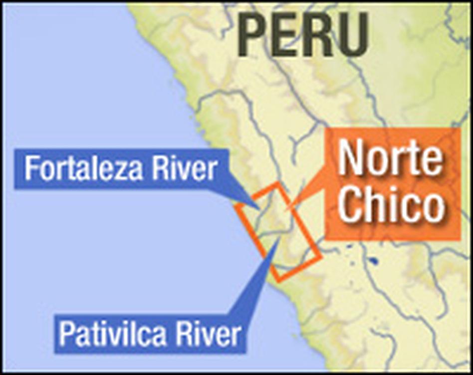 The mound builders settled in the arid, coastal hills of northwestern Peru.