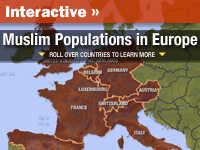 Map of Muslims in Europe