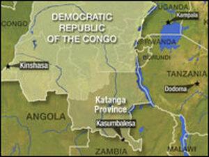 Congo highway map