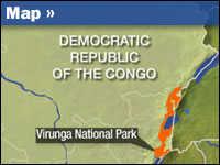 Map of Virunga National Park