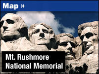 Mount Rushmore Now Offers Pre-Carving History : NPR on map to grand canyon, map to alaska, map to hawaii, map to new orleans, map to canada, map to disneyland, map to mexico, map to minnesota, map to chicago, map to las vegas, map to new york, map to yosemite, map to ellis island, map to the alamo, map to california, map to united states, map to niagra falls, map to maine, map to paris, map to yellowstone national park,