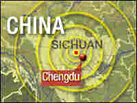 Map of the earthquake's reach.